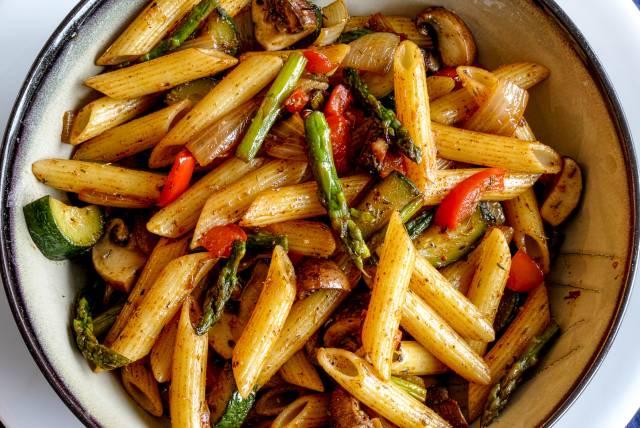 Cajun Pasta with Asparagus